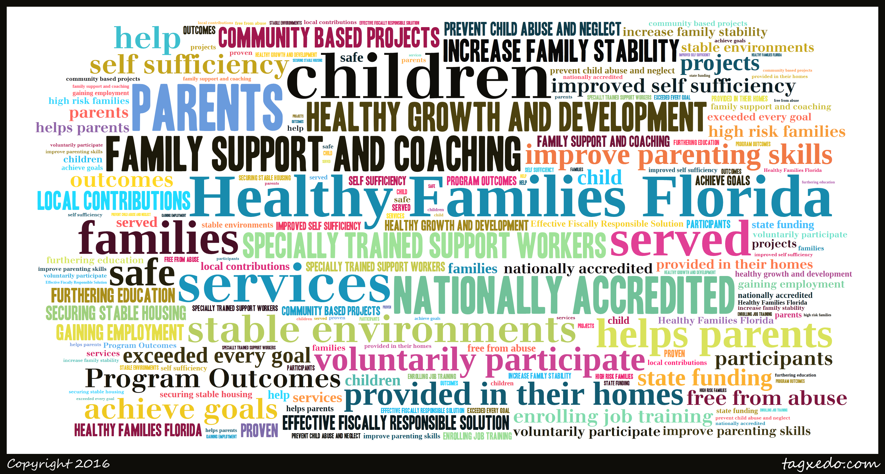 Healthy Families Florida Word Cloud