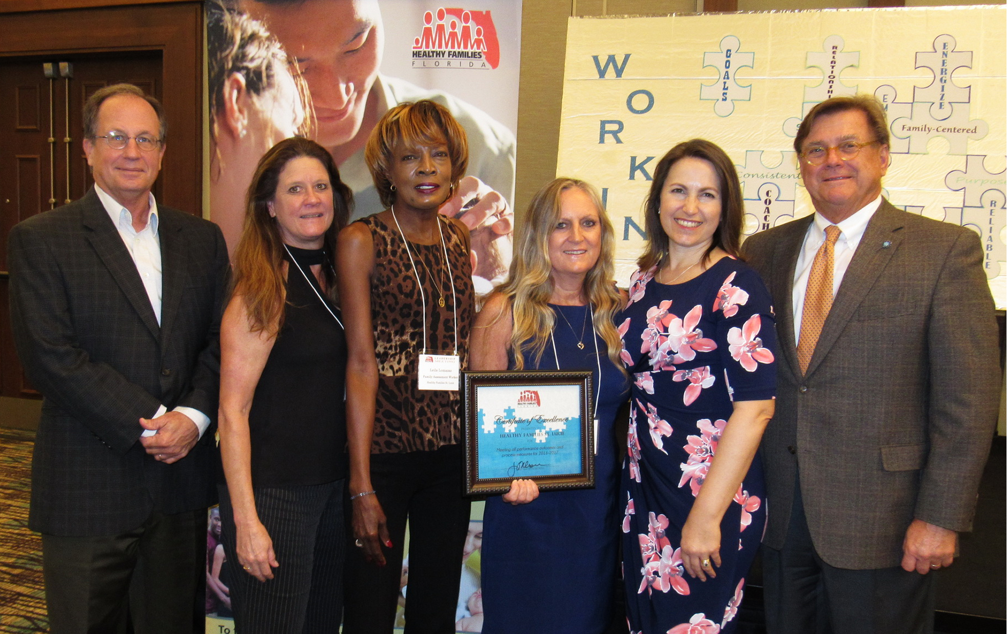 HF St. Lucie Staff Receive Award